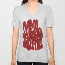 Melbourne typography - chile oil red Unisex V-Neck