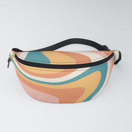 Abstract Wavy Stripes LXIII Fanny Pack