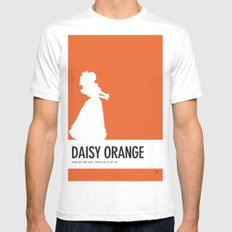 No35 My Minimal Color Code poster Princess Daisy White Mens Fitted Tee MEDIUM
