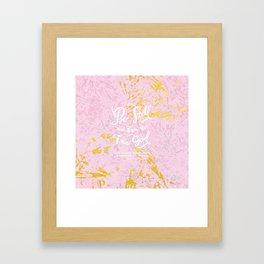 Be Still - w/ abstract pattern Framed Art Print