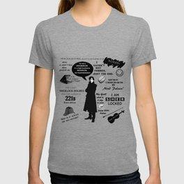 Sherlock Holmes Quotes T-shirt