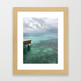storm on the rise Framed Art Print