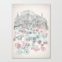 bikes Canvas Prints featuring Old Town Bikes by David Fleck