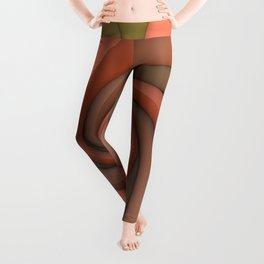 Spiral in Earth Tones Leggings
