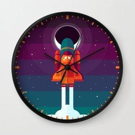 Into Spaaaace Wall Clock