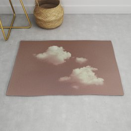 NEPHELAI SERIES Little clouds on dusty pink Rug
