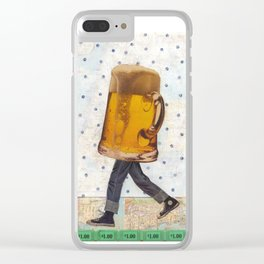 Walking Beer Clear iPhone Case