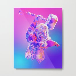 Thor, TheAvengers, God of Thunder Metal Print