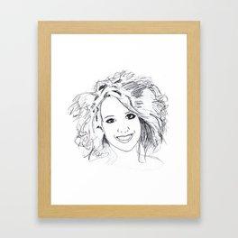 The Beautiful Anke Buckinx Framed Art Print
