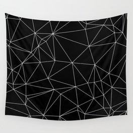 Geometric Black and White Minimalist Pattern Wall Tapestry