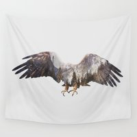 arctic monkeys Wall Tapestries featuring Arctic Eagle by Andreas Lie