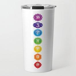 7 Chakra Symbols Travel Mug