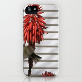 small bird in the country style white wood red flower iPhone Case
