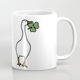 White Goose Steals Shamrock Coffee Mug