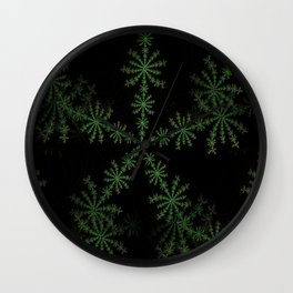Neon black star pattern Wall Clock