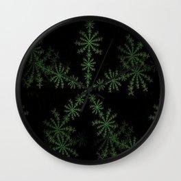Neon black star pattern Wall Clock
