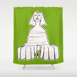 The great sphinx of Giza Shower Curtain