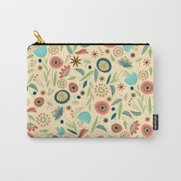 1950s Floral Carry-All Pouch