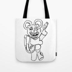Teddy Rockin' the Flamethrower Tote Bag