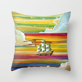 Off To Neverland! Throw Pillow