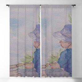 Boy Fishing WC181119g Blackout Curtain