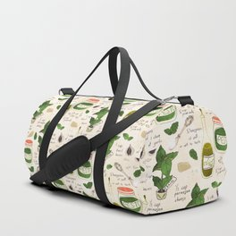 Pesto. Illustrated Recipe. Duffle Bag