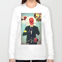 mad Long Sleeve T-shirts featuring What Is This Mad Obsession With Freedom? by Alec Goss