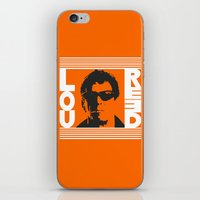 lou reed iPhone & iPod Skins featuring Lou Reed by Silvio Ledbetter