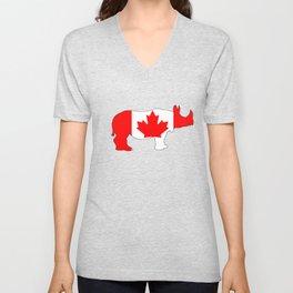 Rhinoceros Canada Unisex V-Neck