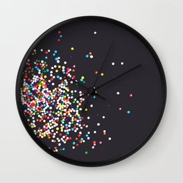 Sprinkles - Vintage Black Wall Clock