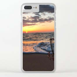 Disc Golf Basket Sunset Virginia Beach Chesapeake Innova Discraft Ocean Waves Clear iPhone Case