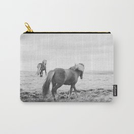 Modern Animal Print, Icelandic Horses Carry-All Pouch