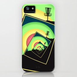 Spinning Disc Golf Baskets 5 iPhone Case