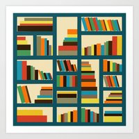library Art Prints featuring library by vitamin