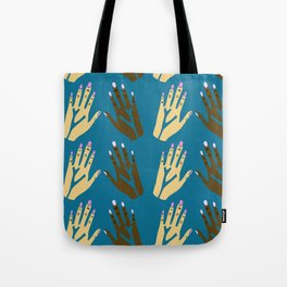 All blood is the same - blue Tote Bag