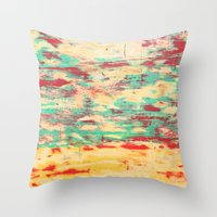 wooden Throw Pillows featuring Wooden Pattern by Patterns and Textures
