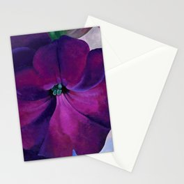 Purple Petunias Sill Life Floral Painting by Georgia O'Keeffe Stationery Cards