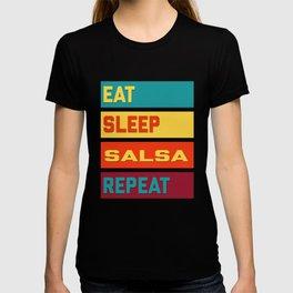 Eat Sleep Salsa Repeat Hipster Edition T-shirt