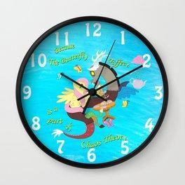 Chaos and Butterflies Wall Clock