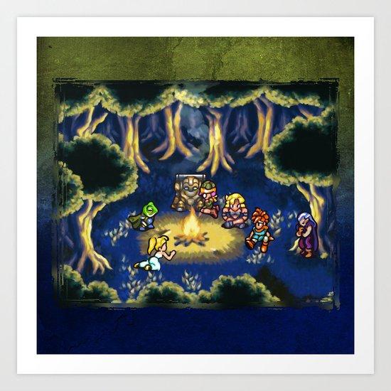 Chrono Trigger Camping Scene Art Print