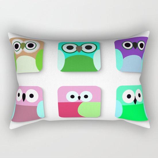 Cute Owl Pattern #2 Rectangular Pillow