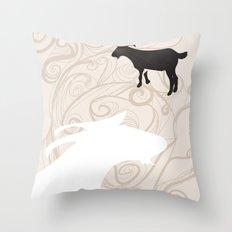 Farm Poster #1 -Goats Throw Pillow