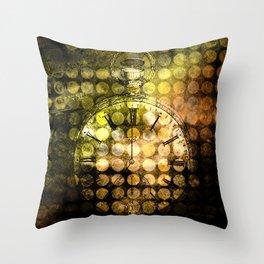 MELANGE WITH A CLOCK Throw Pillow