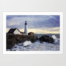 Port Head Lighthouse Maine Art Print