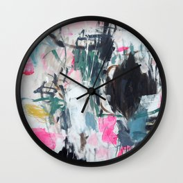 Luana searches her bag Wall Clock