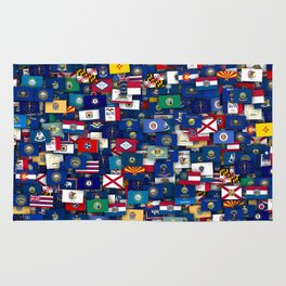 Flags of all US states Rug
