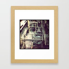 Grey/Pipes Framed Art Print