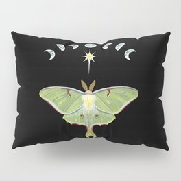 Luna moth and moon phases Pillow Sham