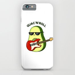 Guac And Roll Cute Avocado Pun iPhone Case