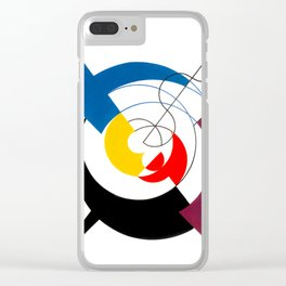 Construction dynamique, Peneration de spirales et diagonales by Sophie Taeuber-Arp Clear iPhone Case